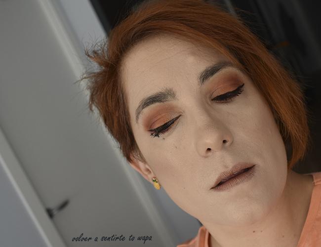 Maquillaje naranja con el cuarteto de Nyx Full Trhottle en el tono 08 Color Riot