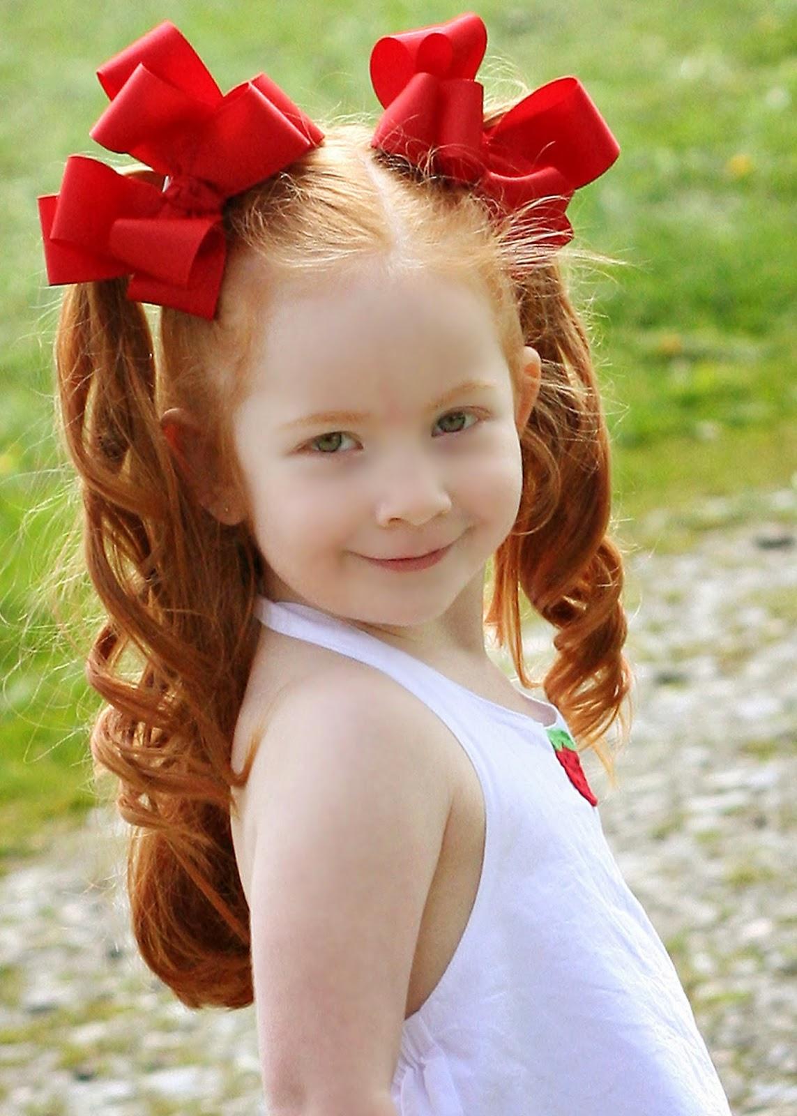 Castaway auburn hair and little girl