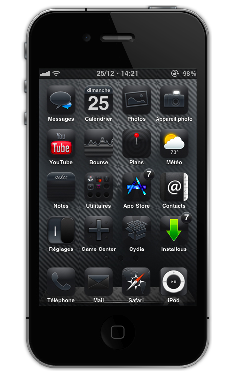 my iphone blacked out modi5 blackout hd sd iphone 4 theme 9838