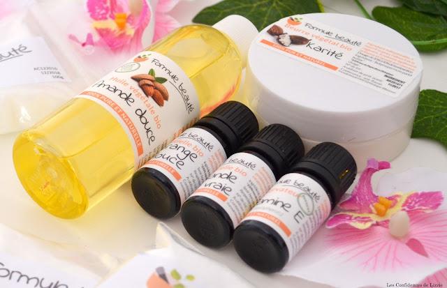Cosmétiques maison - huiles essentielles - huile d'amande douce - beurre de karité - soins - naturels - bio