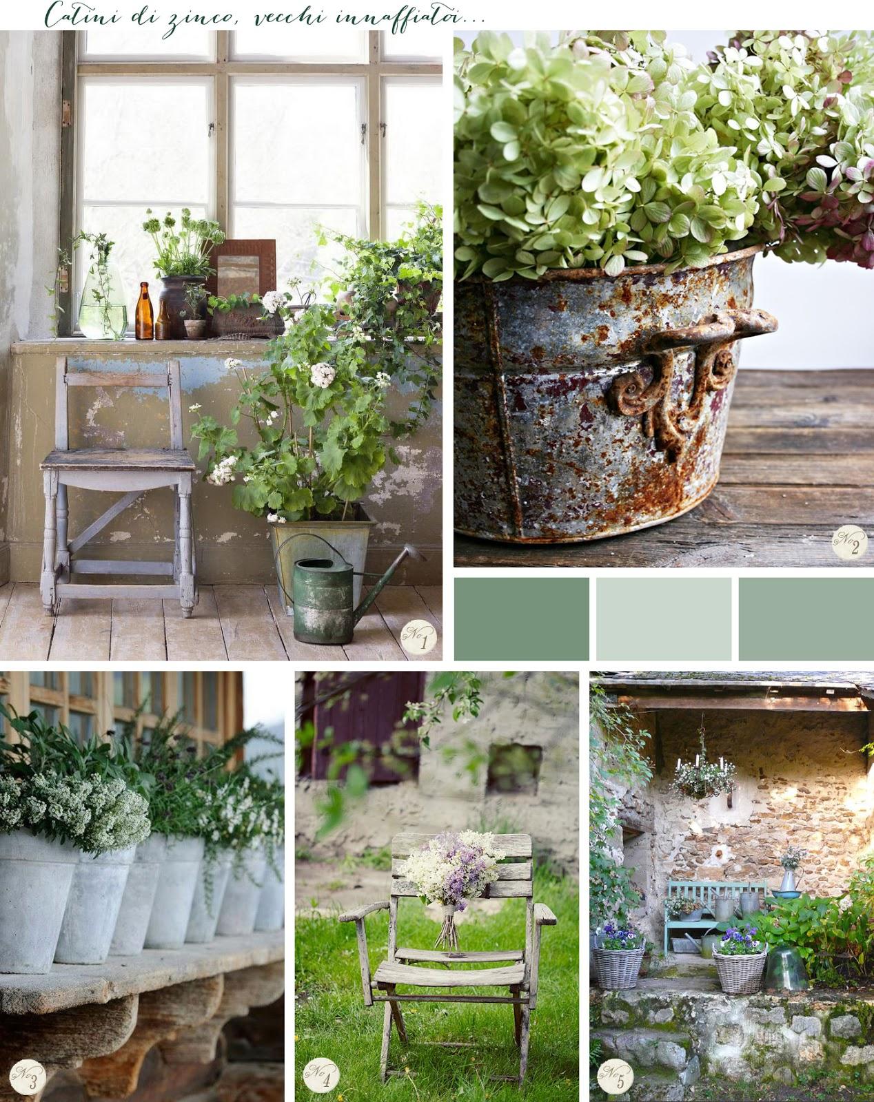 Ispirazioni per un giardino shabby chic shabby chic for Pinterest arredamento