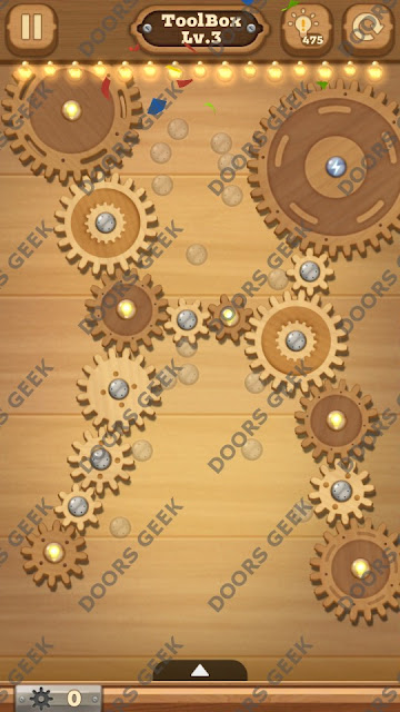 Fix it: Gear Puzzle [ToolBox] Level 3 Solution, Cheats, Walkthrough for Android, iPhone, iPad and iPod