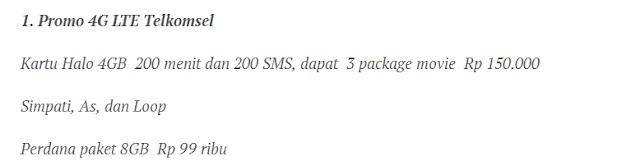Paket 4G Telkomsel