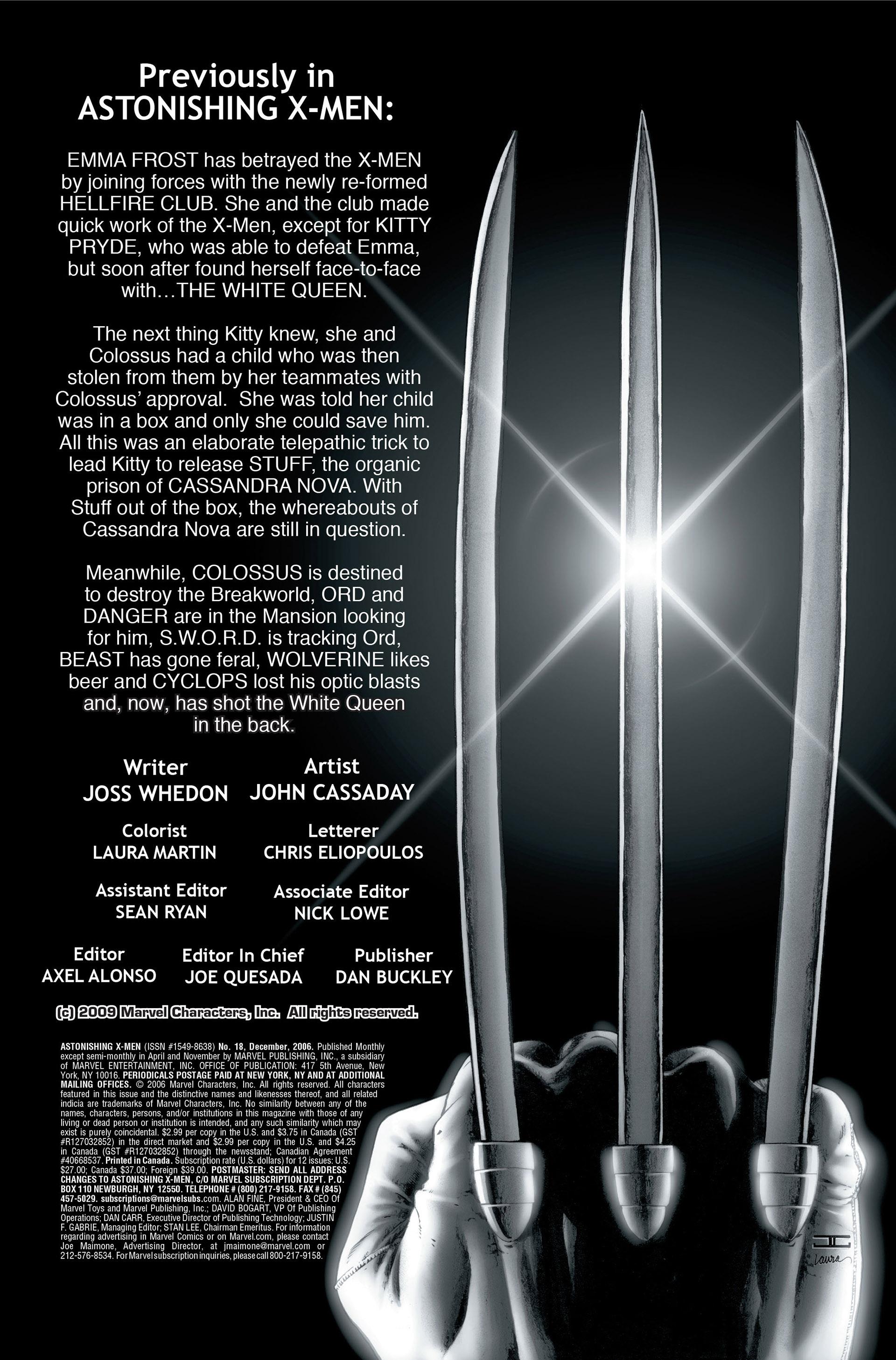 Read online Astonishing X-Men (2004) comic -  Issue #18 - 2