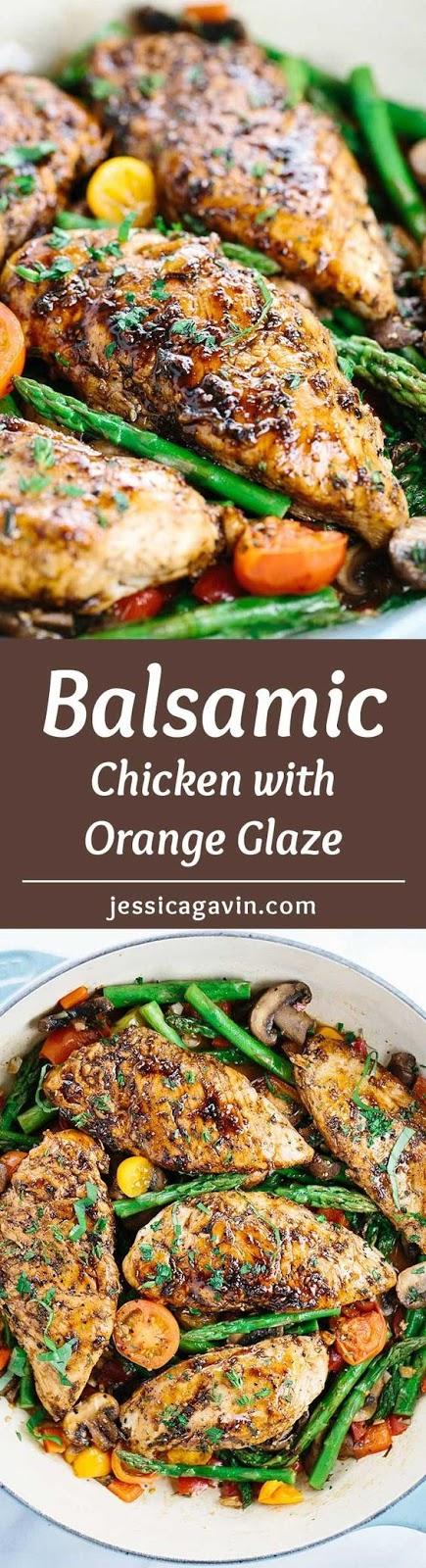 BALSAMIC CHICKEN WITH ORANGE GLAZE SAUCE