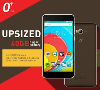 O+ Upsized Announced, 5.5-inch HD Quad Core 40GB Bigger Memory