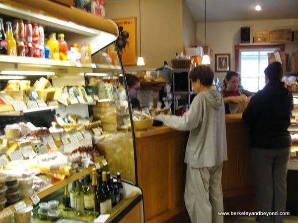 deli case in Andrae's Bakery in Amador City, California