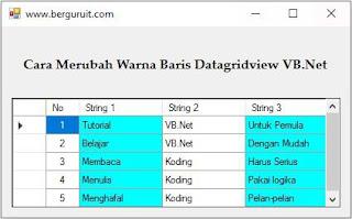 Cara ubah warna kolom datagridview vb.net