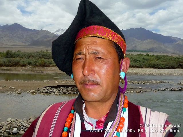 people, portrait, street portrait, headshot, Northern India, Ladakh, Leh, Ladakhi man, traditional costume, goncha, Facing the World, © Matt Hahnewald
