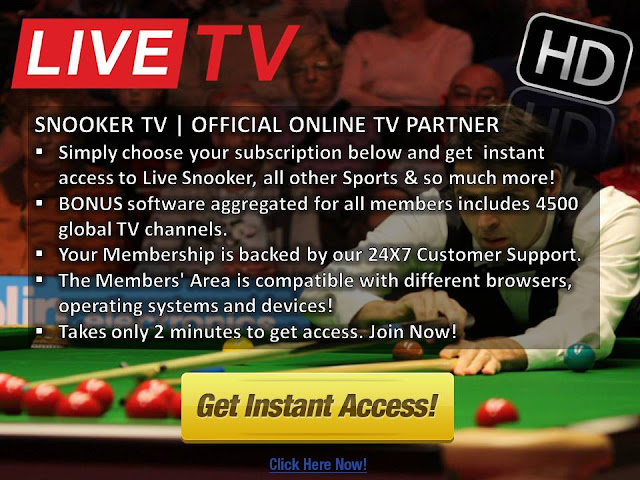 Watch live snooker online
