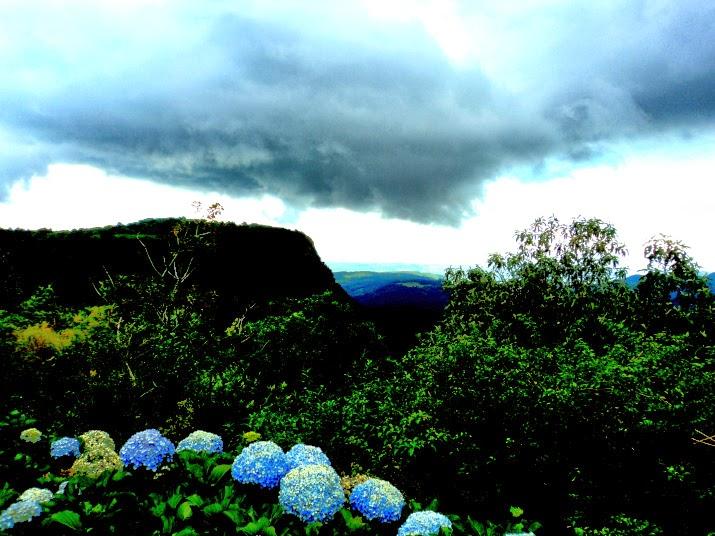Vale do Quilombo Visto do Mirante do Hotel Laje de Pedra, em Canela