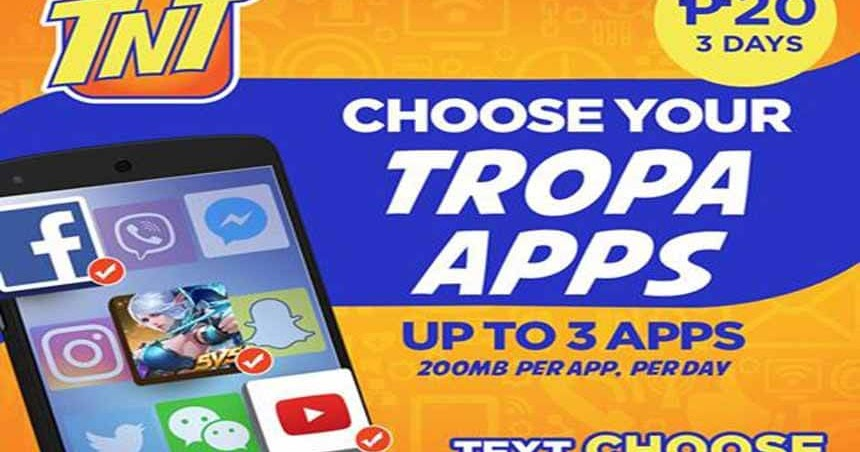 ac6bbcc8cf Talk N Text CHOOSE up to 3 Apps Promo - 20 Pesos Valid for 3 Days -  HowToQuick.Net