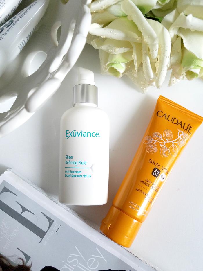 Best of Skincare 2017 - Sonnenschutz Caudalie Soleil Divin SPF30 Anti-Aging Face Suncare Exuviance Sheer Refining Fluid SPF35
