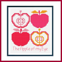 manzanas a punto de cruz