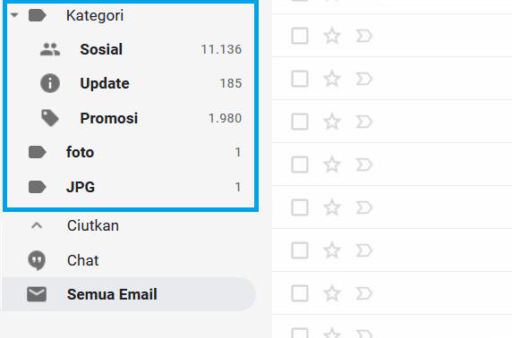 Label Pesan Gmail Komputer