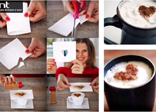 How to make love shapes on Coffee drink