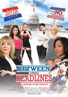 Between The Headlines A Lesbian Parody XXX