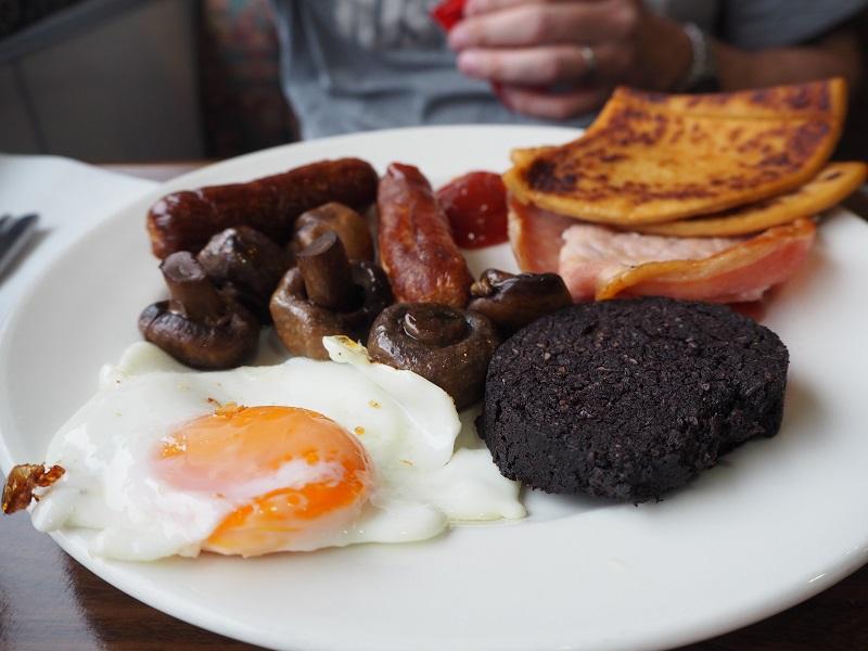 Full Scottish breakfast onboard Northlink ferry