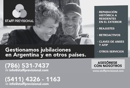 Staff Previsional: Gestión de Jubilaciones argentinas en Estados Unidos y México