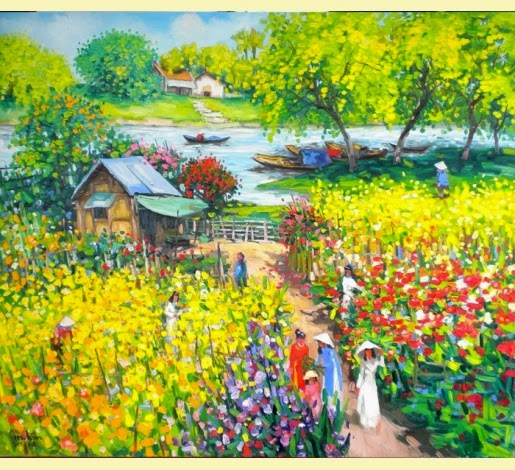 Jardim - Pinturas do vietnamita Lam Duc Manh