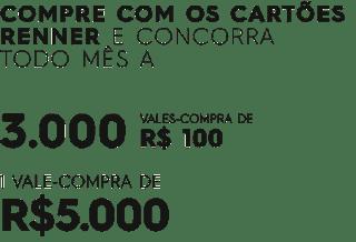 Promoção Renner 2019