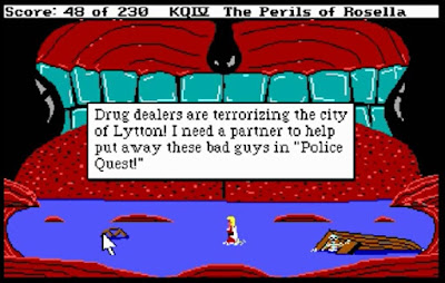 Huevo de Pascua King's Quest 4 - Police Quest