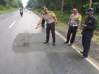 Kapolres Lampung Timur Cek Ruas Jalur Lintas Pantai Timur