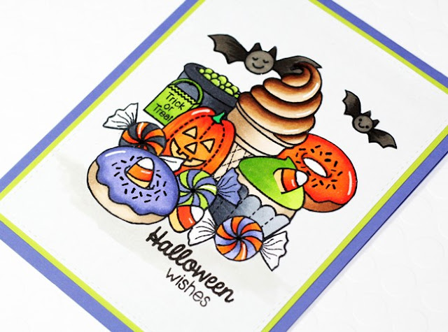 Sunny Studio Stamps: Halloween Cuties & Sweet Shoppe Candy Card by Stephanie Klauck.