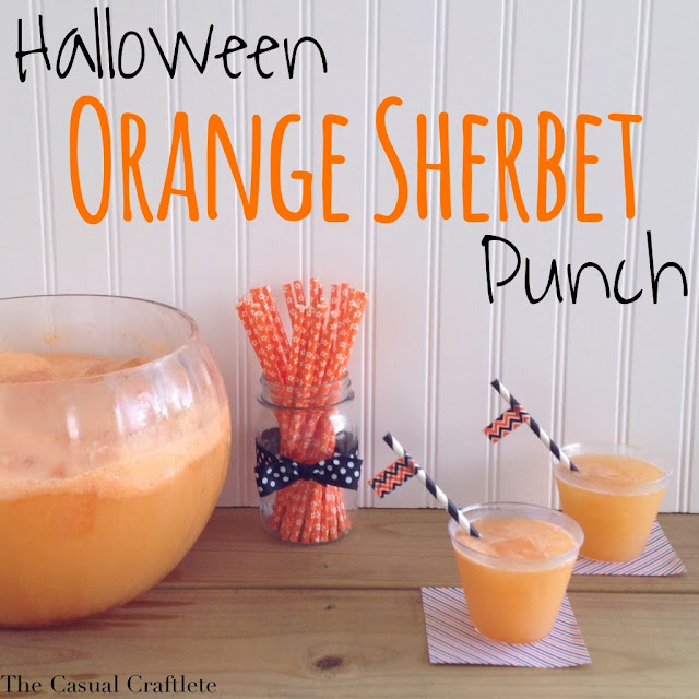 Halloween orange sherbet punch