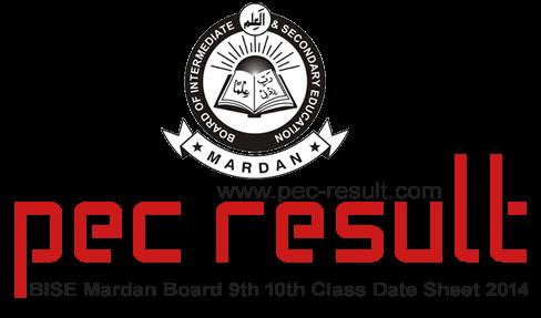 BISE Mardan Board 9th 10th Class Date Sheet 2015