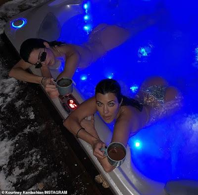 Kourtney Kardashian and Kendall Jenner Flaunt Their Famous Backsides.