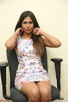 Nishi Ganda stunning cute in Flower Print short dress at Tick Tack Movie Press Meet March 2017 148.JPG