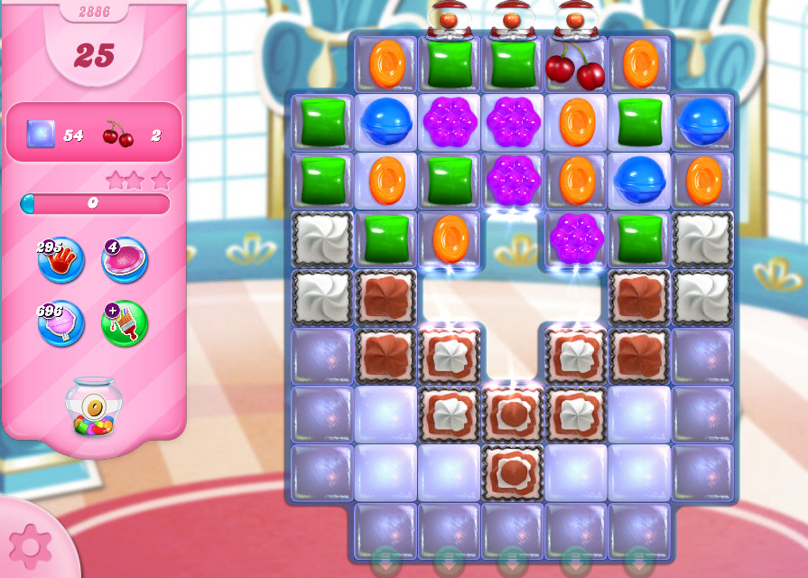 Candy Crush Saga level 2886