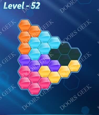 Block! Hexa Puzzle [6 Mania] Level 52 Solution, Cheats, Walkthrough for android, iphone, ipad, ipod
