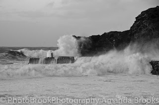 Portreath in Winter Cornwall
