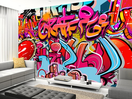 Graffiti tapetti viileä taustakuva