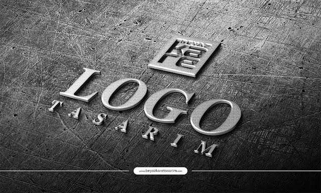 3D logo tasarımı metalik krom