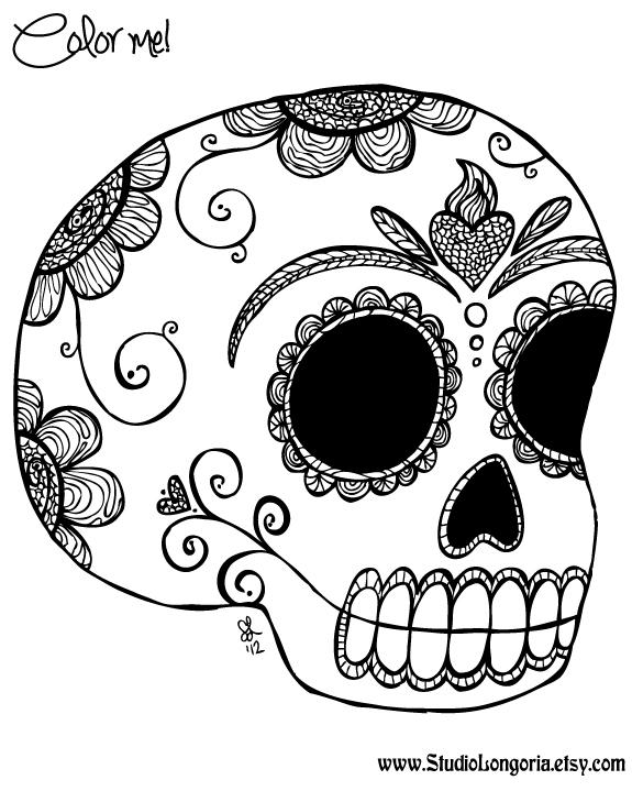 Studio Longoria: Dia De Los Muertos Coloring Sheet