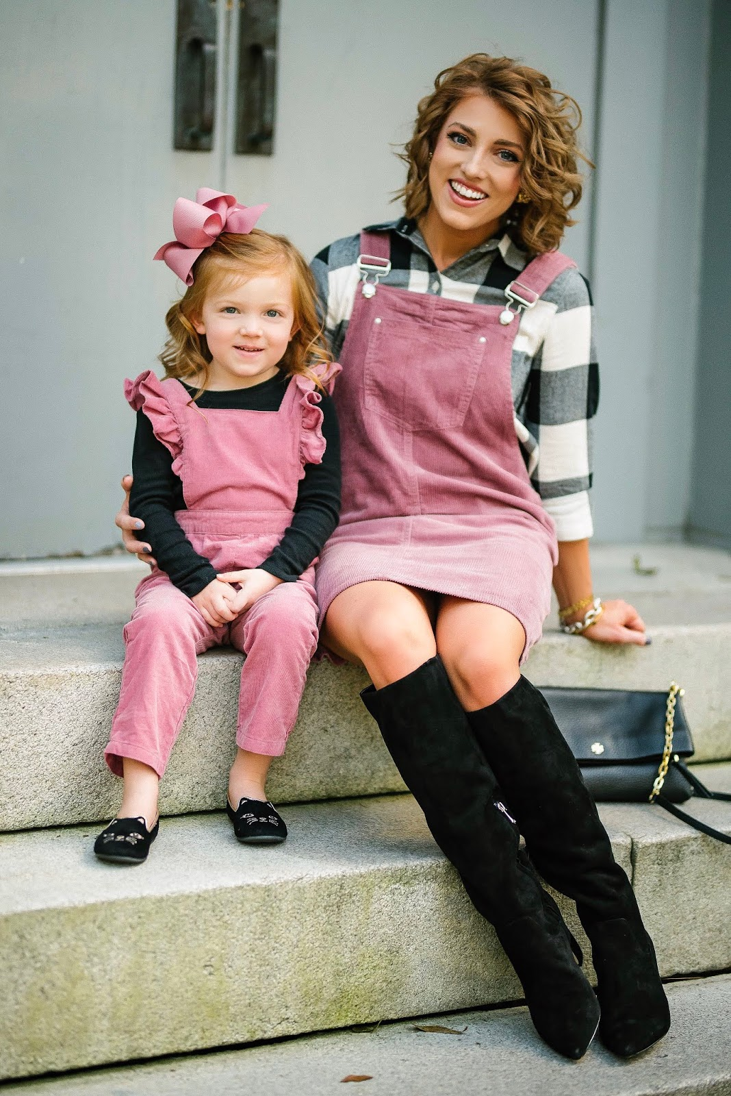 Fall Style: Mommy and Me in Pink Corduroy - Something Delightful Blog