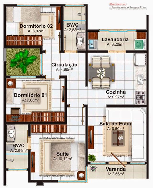 Planos de casa de una planta planos de casas gratis y for Casas pequenas de una planta