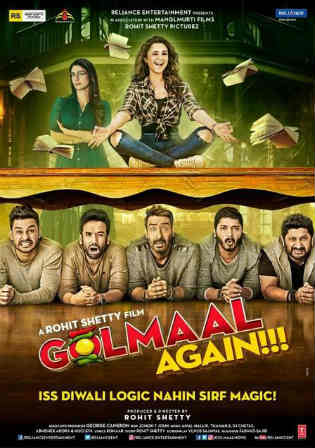 Golmaal Again 2017 BluRay 1GB Full Hindi Movie Download 720p ESub