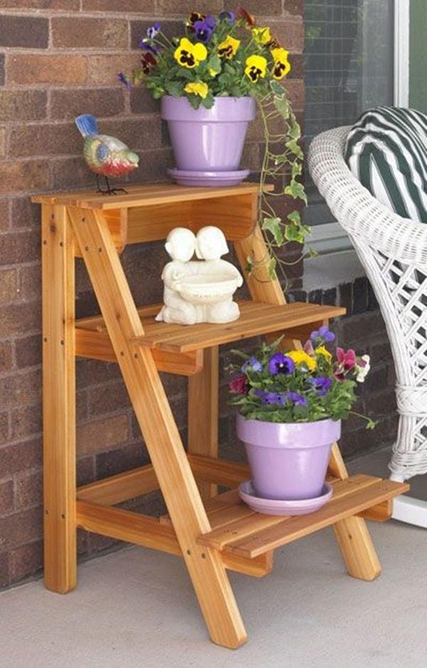 DIY Trending Decor - Amazing Decorating With Ladders 15