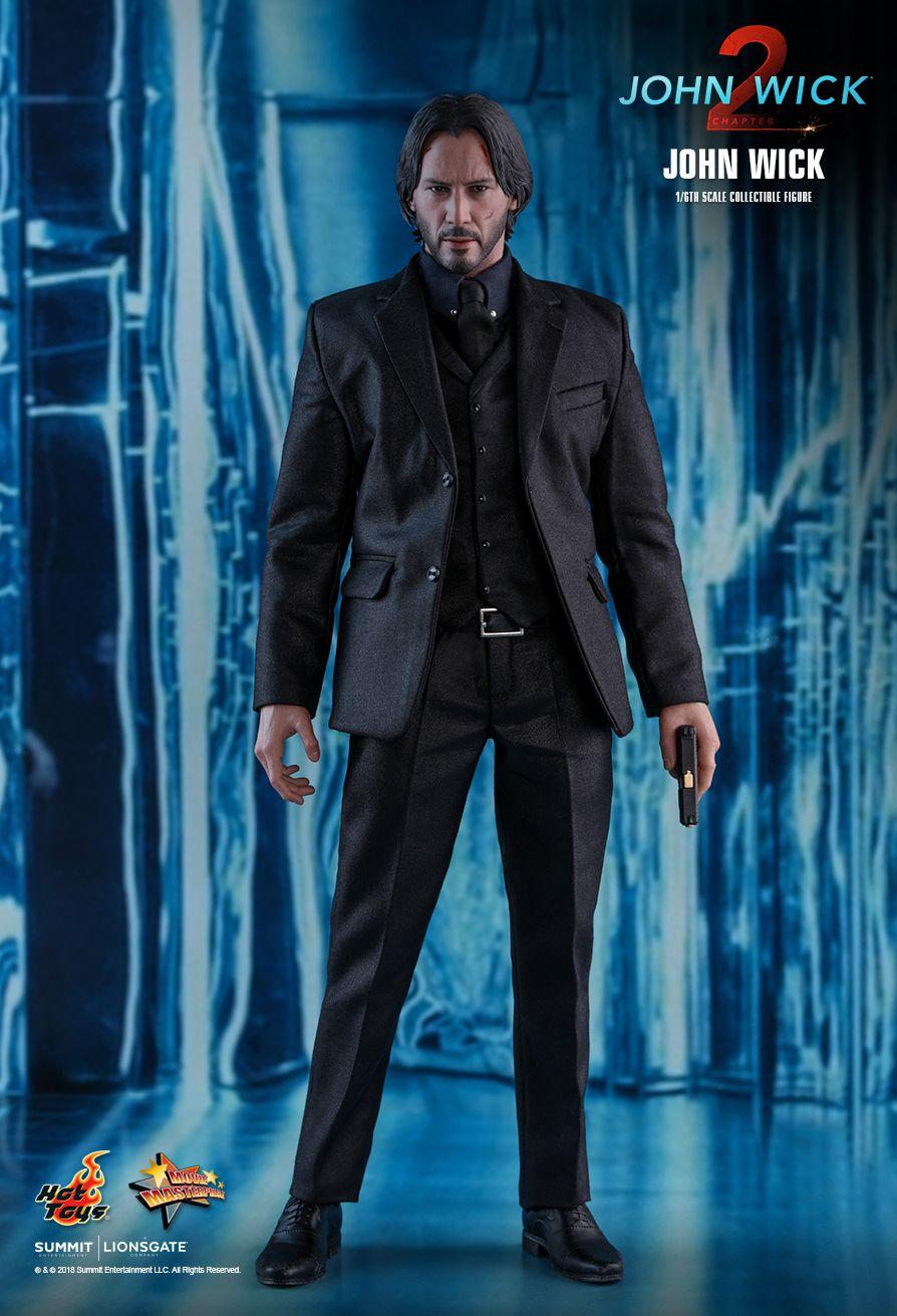"Hot Toys John Wick Chapter 2 John Wick Keanu Reeves 1//6 Scale 12/"" Figure In Hand"