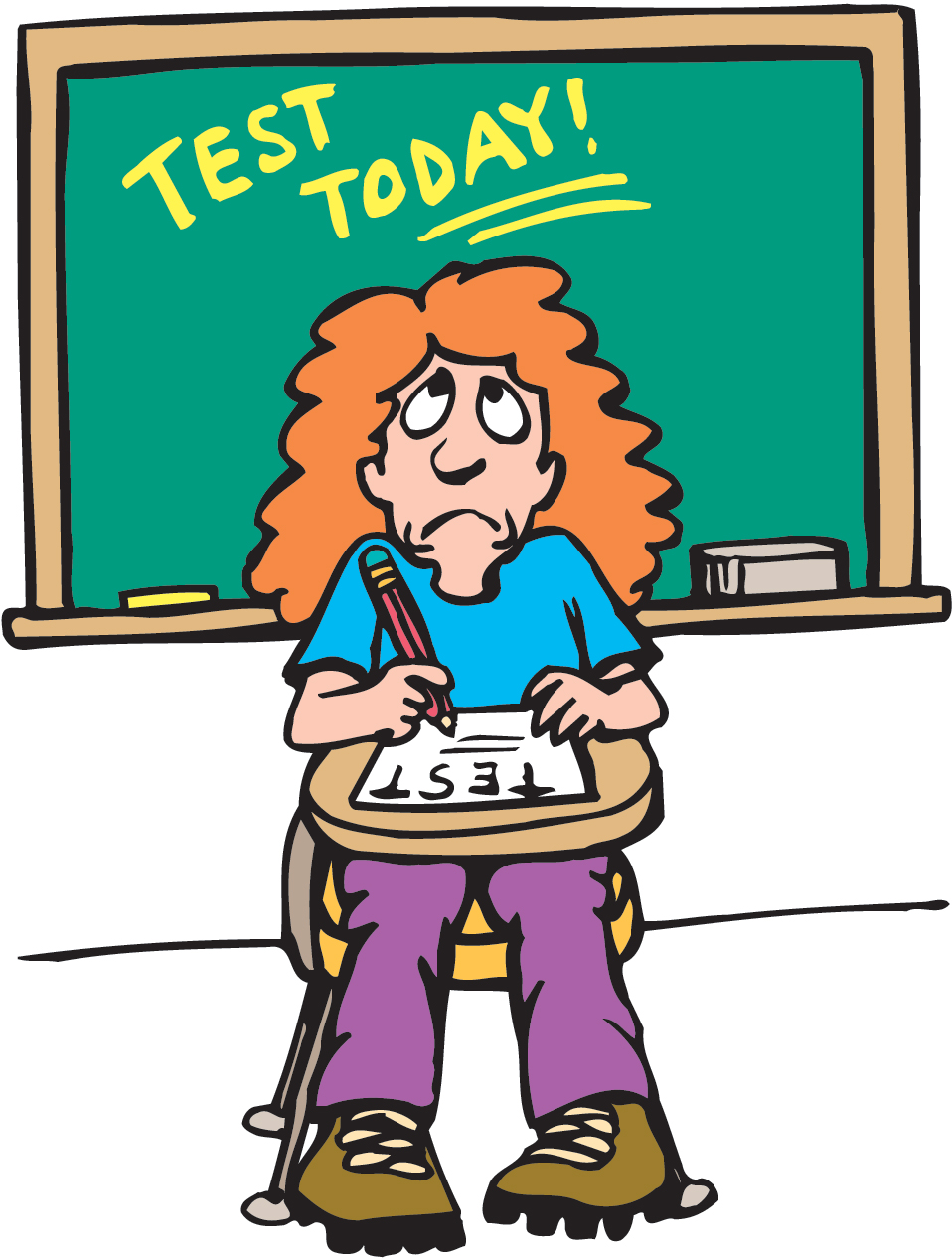 test anxiety clipart - photo #30