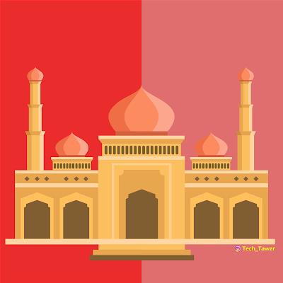 Free Vector Masjid 2019 | Free Vector Mosque 2019