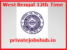 West Bengal 12th Time Table