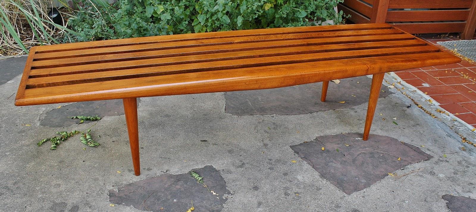 Modwerks Danish Mid Century Slat Bench