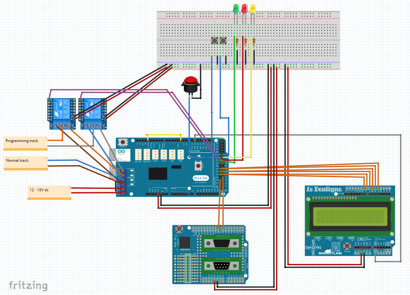 Club N Caldes: Cheapest DCC Command Station with Loconet interface
