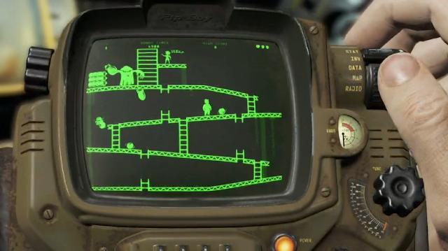 Fallout 4 Pip Boy Donkey Kong app arcade