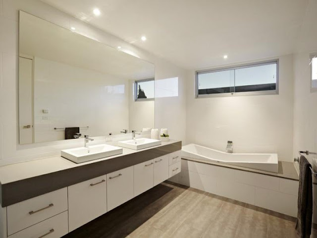 Photo of modern bathroom in an amazing home in Australia